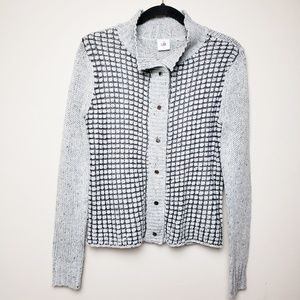 CAbi Square stitch Cardigan Sweater #3006, Small